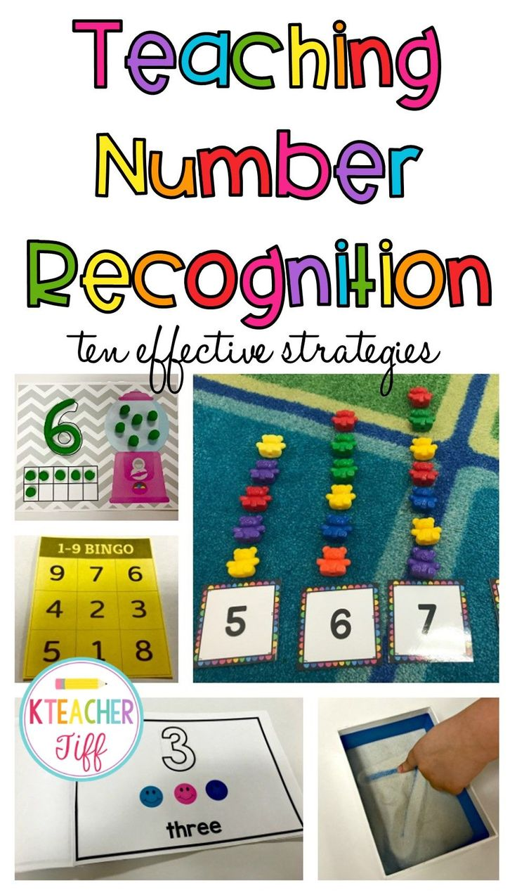 """Kindergarten often begins with teaching students to recognize numbers. Here are 10 effective waysto teach them to your students! Number Books Have students create their own number books. Creating a book of their own will give them ownership of something that they can """"read"""" again and again to help them learn their numbers. Provide pages that include the numerals you are working on. Allow the students to create the set using bingo dabbers, stickers, or pictures. Click Here to download this…"""