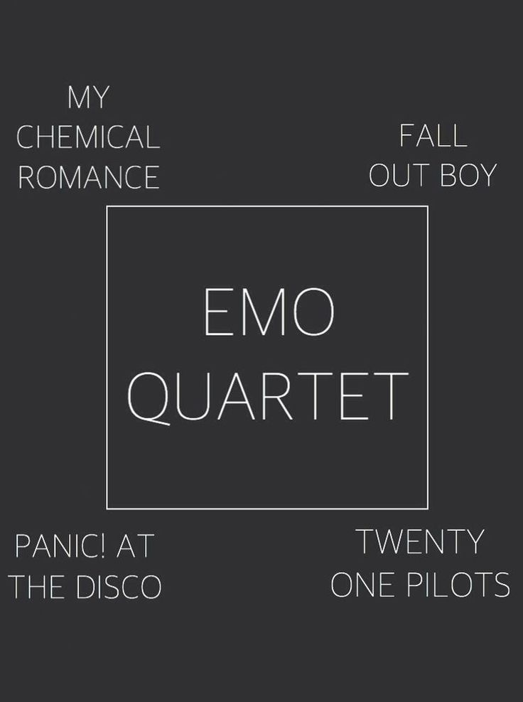 I honestly think it will just be a trinity with panic!,fob and mcr and of course I'm a huge fan of tøp,Halsey and Melanie but mcr,fob and panic! should and will always be the most iconic emo bands and I honestly never saw Halsey and Melanie as emo bc they're more pop than emo and tøp aren't emo.