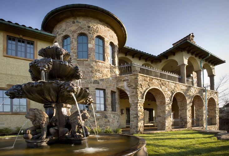 Ramsey Building Old World Tuscan Home Tuscan Design