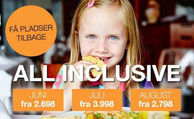 All Inclusive ferier i juni, juli og august