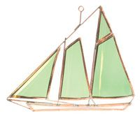 Stained Glass Boats - America Stained Glass Boat