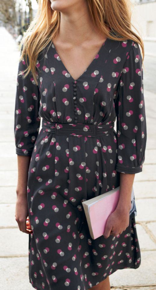 Dots dress - would be super cute with tights