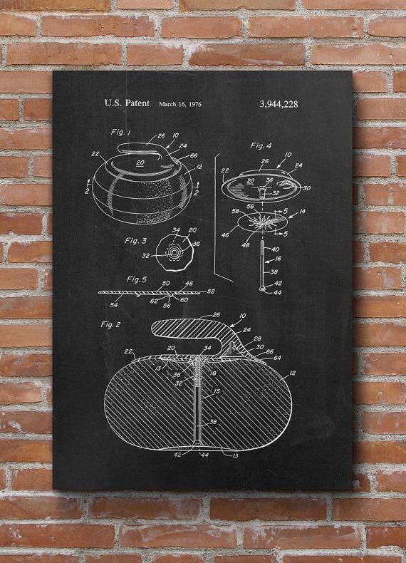 Curling Stone Patent Print Sport Decor