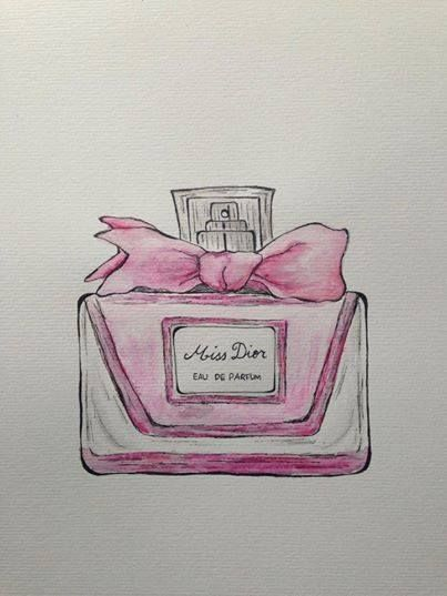 The watercolour perfume series. Aritst: Paige Mackay 2014 Watercolour pencils on paper