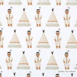 Indian tipi wallpaper créme