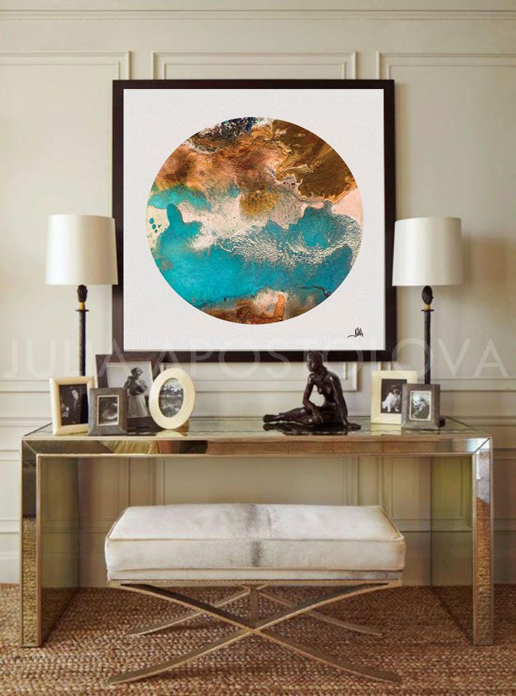 #Circle #Print, #Watercolor #Painting, #CircleCanvas #Large #Canvas #Art, #Geometric #ArtPrint, #Seascape, #Bronze and #Turquoise, #Copper #Teal, #Large #WallArt #Abstract by #JuliaApostolovaArt on #Etsy #homedecor #interior #bedroom #livingroom #decor #interiordesign  #interiordesigner #officedecor #homeinterior