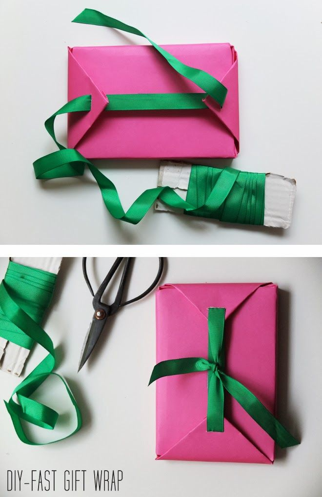 Fast gift wrap. #DIY #gift #packaging and when out of tape