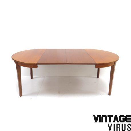 Grote Uitschuifbare Eettafel.Grote Vintage Uitschuifbare Eettafel Vergadertafel Van