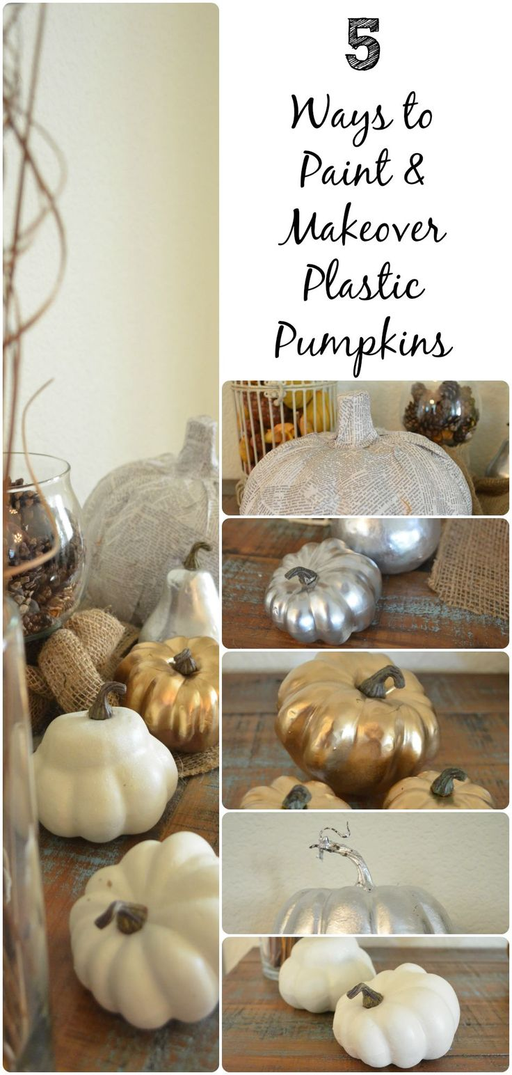 coin jewelry Ways to Paint and Makeover Plastic Pumpkins  Fall Home Decor