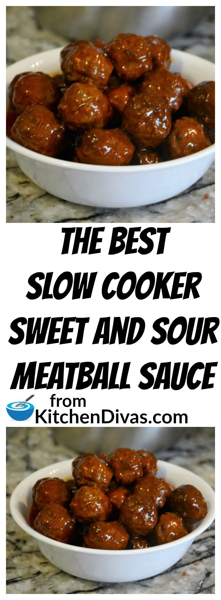 Ken and his buddies play poker once a month and these meatballs are always a huge hit. Sweet and Sour Meatballs are so easy to make. If we have time we make our Perfect Meatballs and if not we buy a large bag of frozen prepared meatballs. Throw it all in the slow cooker and in a few hours total perfection! The sauce is fabulous!