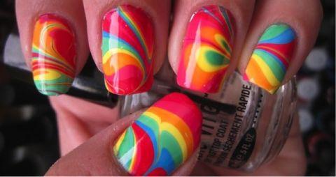 Swirl nails tutorial