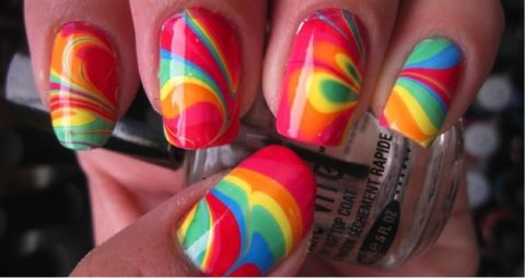 rainbow nails and makeup | colorful rainbow nails nail polish beauty nail