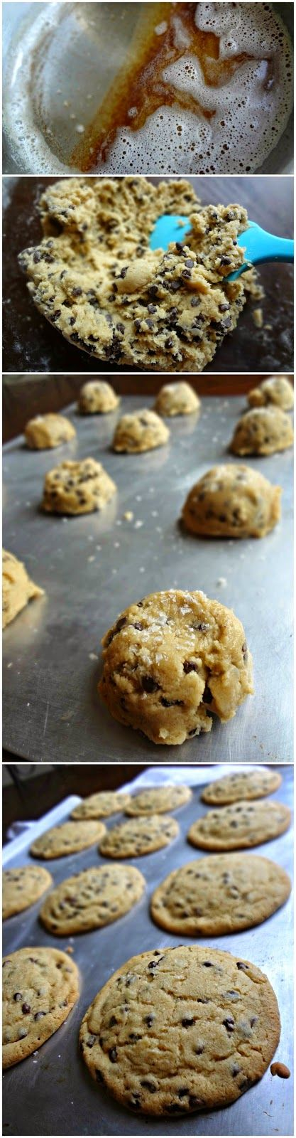 The Cooking Actress: Browned Butter Mini Chip Cookies #cookies #baking #sweets #desserts #snacks #recipe