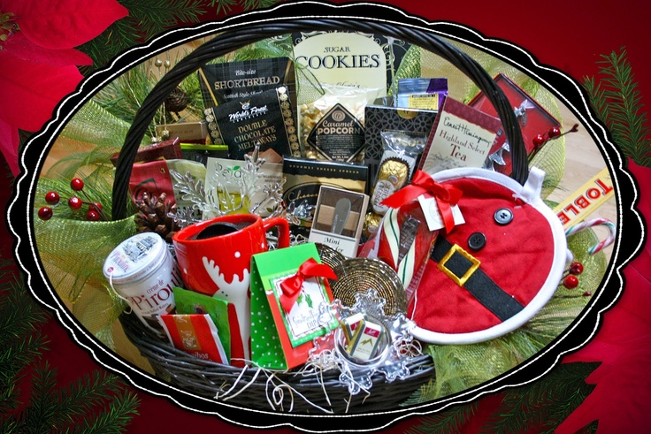 Holly Jolly Christmas Basket.                   Christmas Festivity is all wrapped up and ready to present!!                                  Holly Jolly Christmas Basket    The ultimate Christmas basket all decked out to overflowing                   with Christmas goodies, gifts and treats.                                          CB005    $119.99