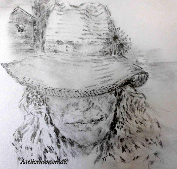 Forbliv dig selv... sæt din hat - som du vil ♥ Be you .. and put your hat as you like ♥ Pencil work.