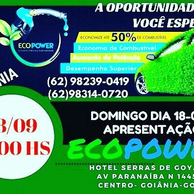 Venha neste Domingo estar conosco aqui em Goiânia no Hotel Serras de Goyaz! E conhecer esse fantástico economizador de combustível!