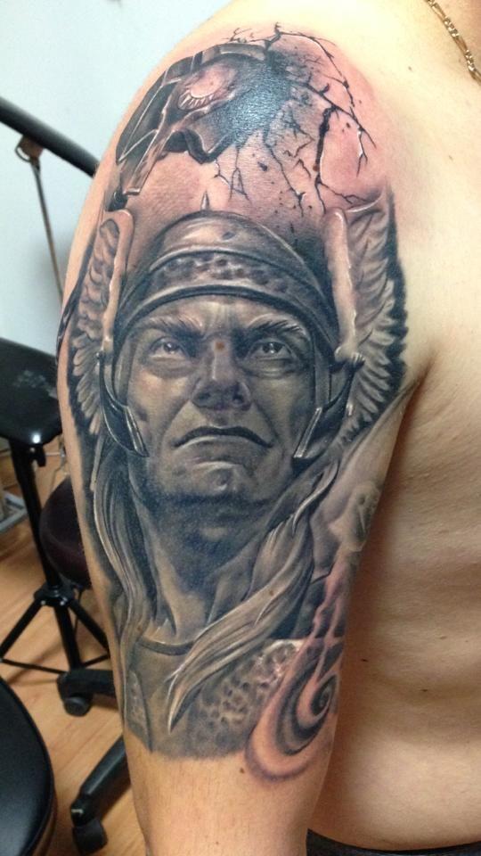#tattoostudio #nadelwerk #viking #slleve #blackandgrey # ...
