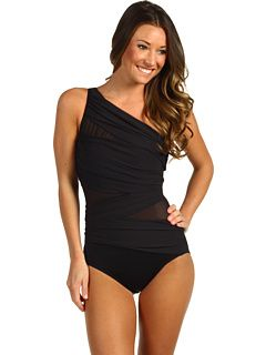 Miraclesuit Jena Slimming One-Piece Swimsuit Black - Zappos.com Free Shipping BOTH Ways
