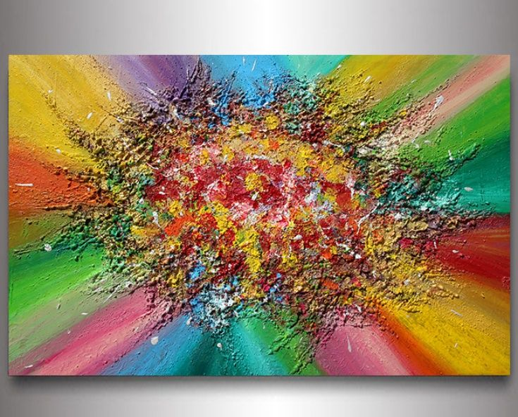 #ARTFINDER : #Art #Abstract #Painting #MixedMedia #Relief #Highquality #Fine #Stretched #Canvas with painted edges #rainbowcolours #rainbowpainting #colorfulpainting #colorfulabstract #floralabstract #floralpainting #readytohang #Original #Contemporary #Handpainted #Acrylic #RichTexture #Painting ''Rainbow Soul'', 2014 ... by Julia Apostolova
