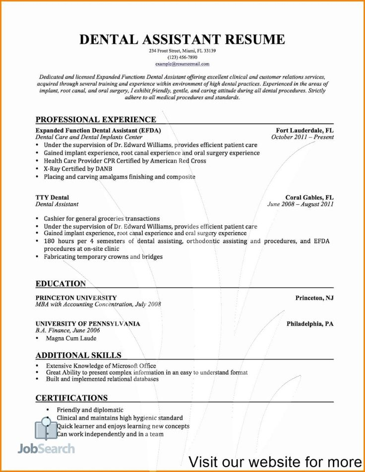 dental assisting resumes dental assistant resume objective