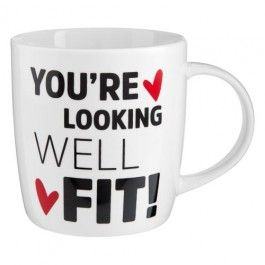 Why not buy this new novelty mug for your partner this year.  Bring some fun into valentine's and share the love with our new novelty 'you're looking well fit' range