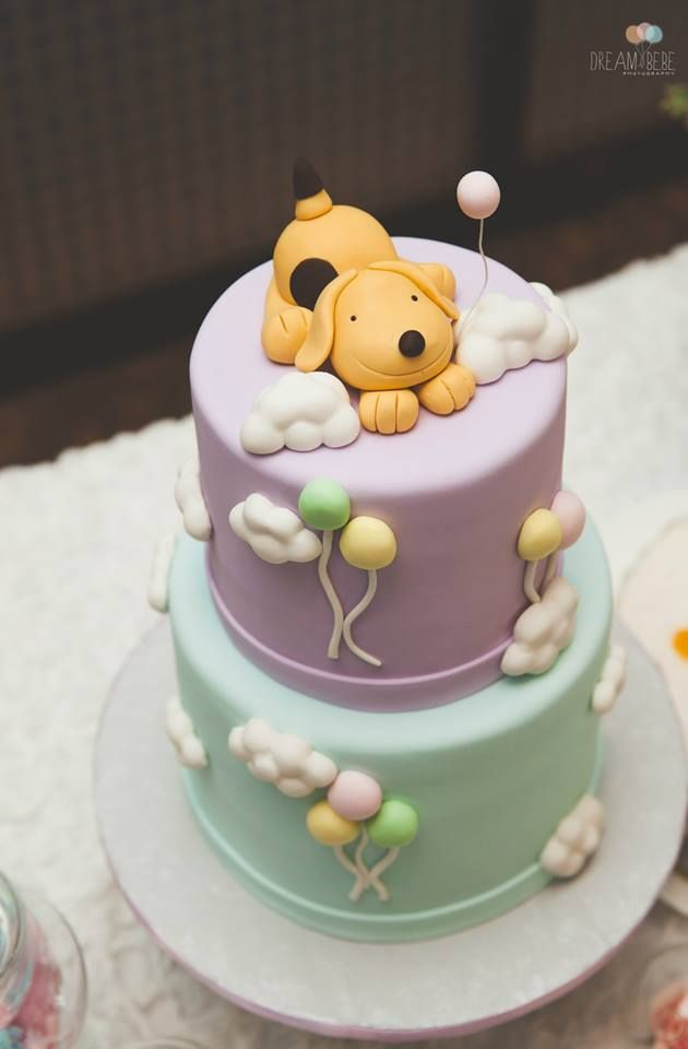 Cloud Themed 1st Birthday With Spot The Dog Cake Topper
