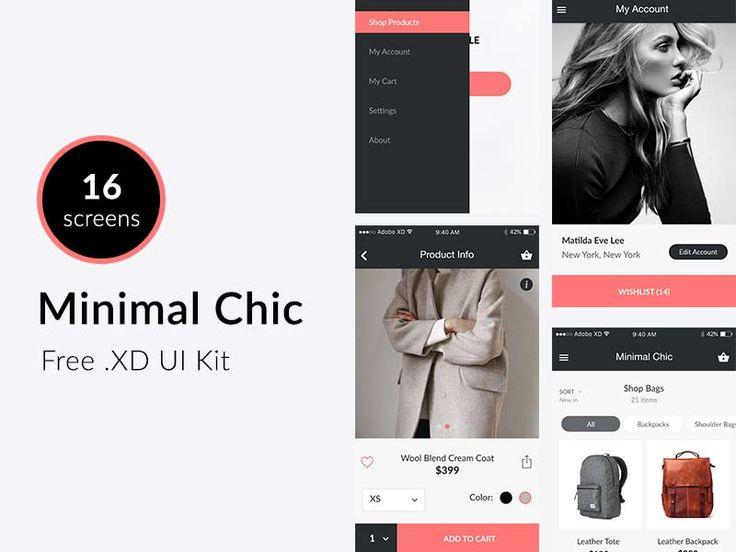 Minimal Chic - Adobe Xd UI Kit