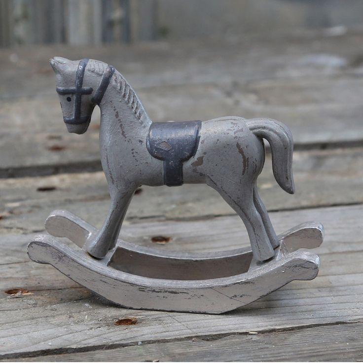 Schaukelpferd Christmas Pferd Weihnachten Deko Shabby: Im Nostalgischen Trabschritt Galoppiert Das Deko