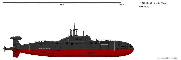 """Project 971 Щука-Б (Shchuka-B, 'Shchuka' meaning """"pike"""", NATO reporting name """"Akula""""), is a nuclear-powered attack submarine (SSN) first deployed by the Soviet Navy in..."""