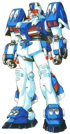 The RAG-79 Aqua GM is an Earth Federation Mobile suit from the Universal Century, which first appeared in Kunio Okawara's M-MSV series. The Aqua GM was eventually redesigned by Hajime Katoki as part of Harmony of Gundam, and was later included in Mobile Suit Gundam Unicorn.