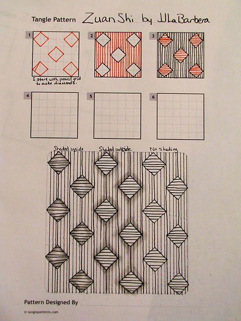 http://tinkertangles.blogspot.com/2011/06/tangle-pattern-zuan-shi.html
