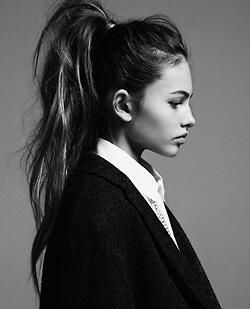 Fabulous hair for work and long hair: high pony tail with waves curls (r4)