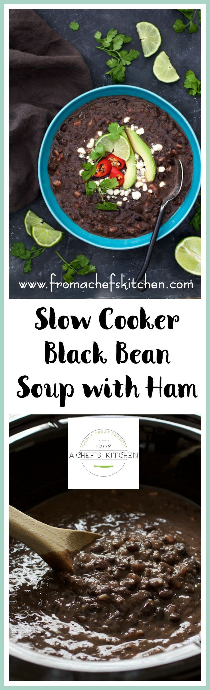 Slow Cooker Black Bean Soup with Ham is the perfect way to make a black bean soup. My tips are guaranteed to get you tender beans every time!