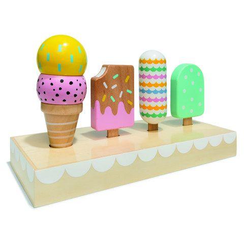 Wooden Ice Cream Set | Kmart