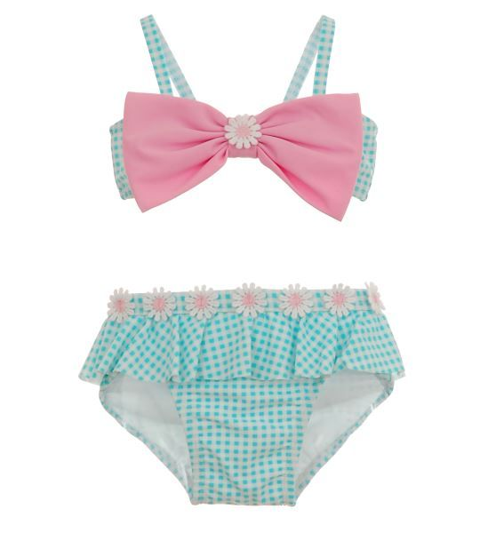 Infant Pink Bow Two Piece Bathing Suit | Sale | Hartstrings