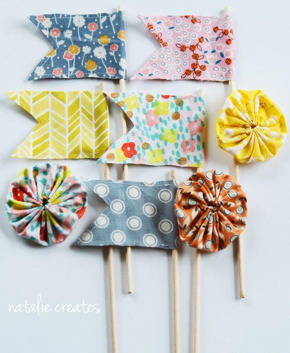 handmade fabric flags