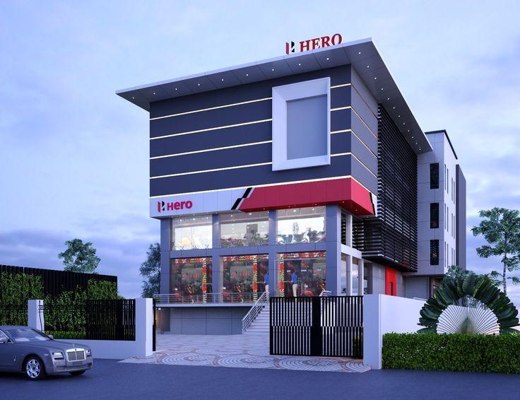 Showroom Hero Commercial Building Plans Modern Architecture Building Facade Design