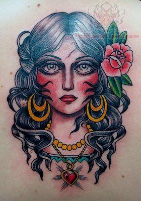 american traditional tattoos pin up | Traditional Tattoos Pictures and Images : Page 5