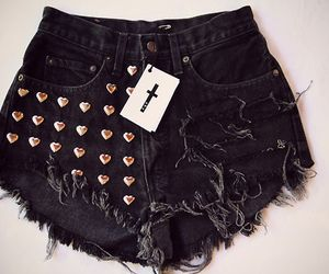 heart studded booty tattered shorts #choies
