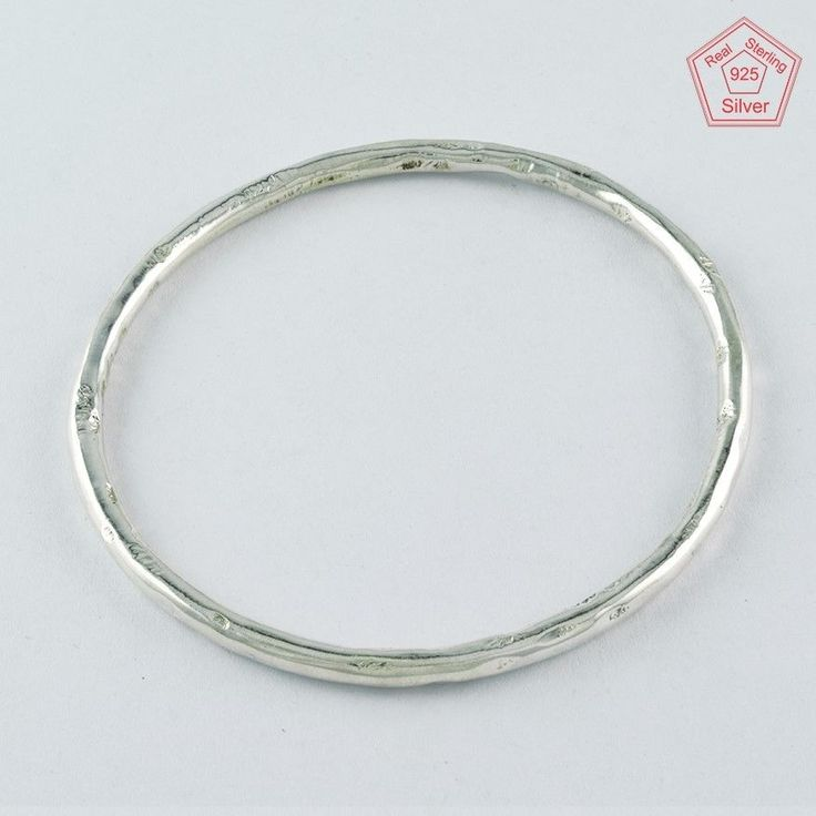 HAMMERED DESIGN 925 STERLING SILVER BANGLE BR4361 #SilvexImagesIndiaPvtLtd #Chain