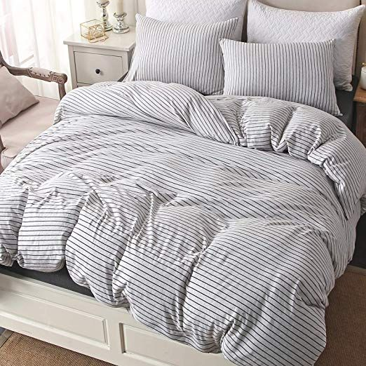 Pure Era Cotton Jersey Knit Duvet Cover Set 1 Comforter Cover And