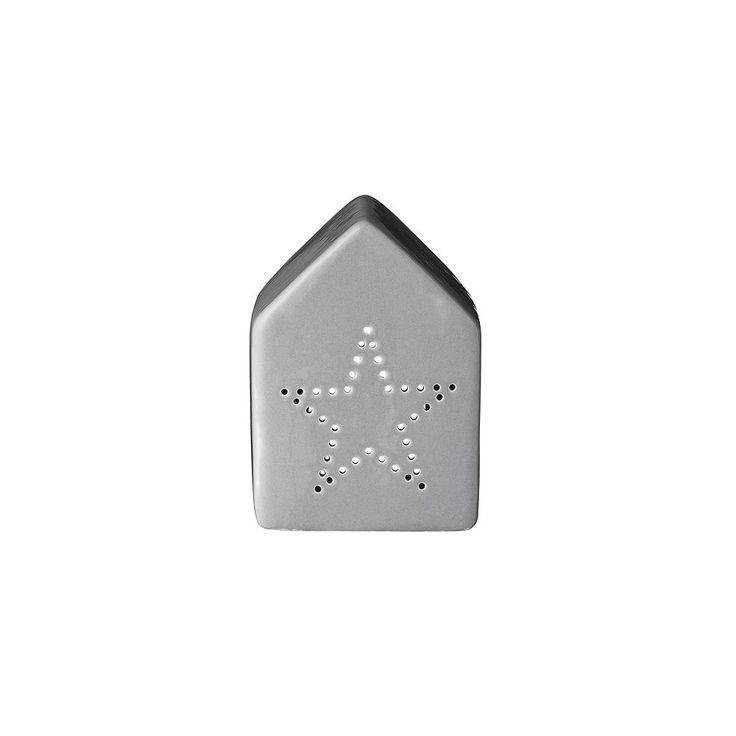 bloomingville lyshus stjerne grå | Ting