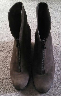 arche womens nubuck leather boots dark gray taupe color 38 worn once