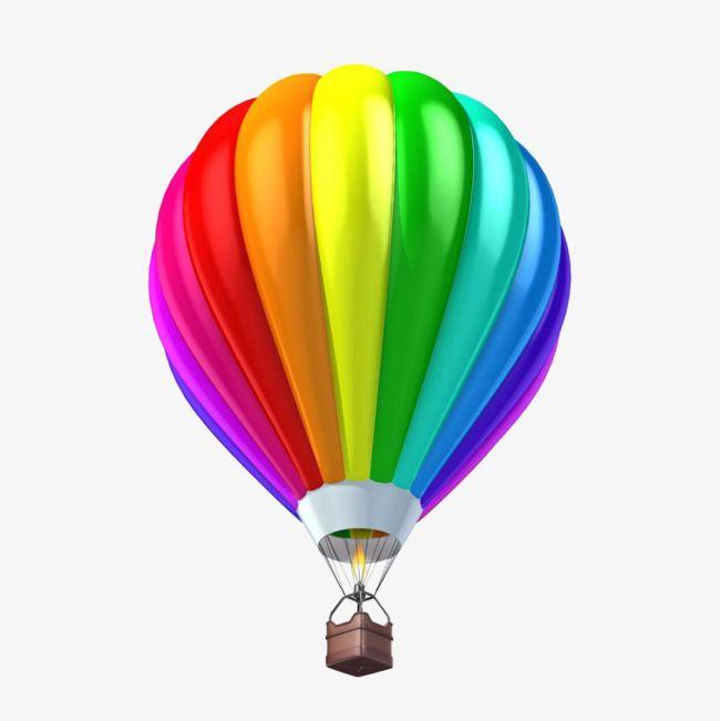 الملون بالون الهواء الساخن لون منطاد الهواء الساخن واحد Png