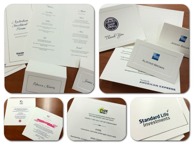 Fine Invitations also does corporate stationery #sydneyevents