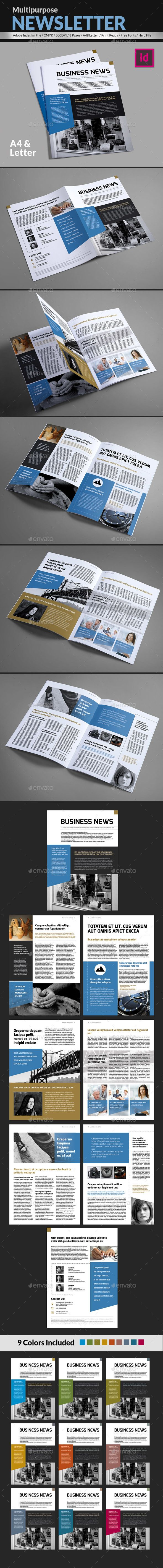Business News Multipurpose Newsleter Template 1083