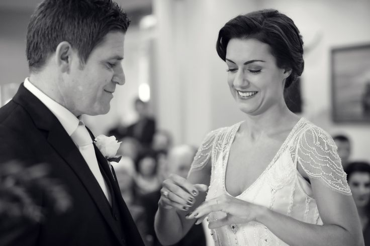 Wedding ceremony at Sheen Falls