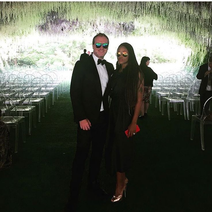 Hip Hop diva Eve and her husband Maximillion Cooper attending a friend's wedding #love #wmbw #bwwm #swirl #wedding #lovingday #relationshipgoals