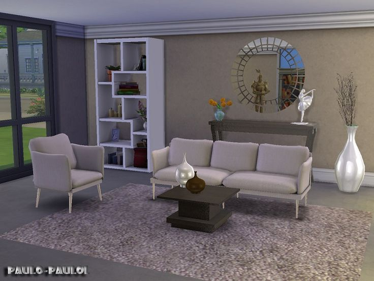 Paulo paulol 39 s living room fiona sims 4 cc sets for Living room sims 4