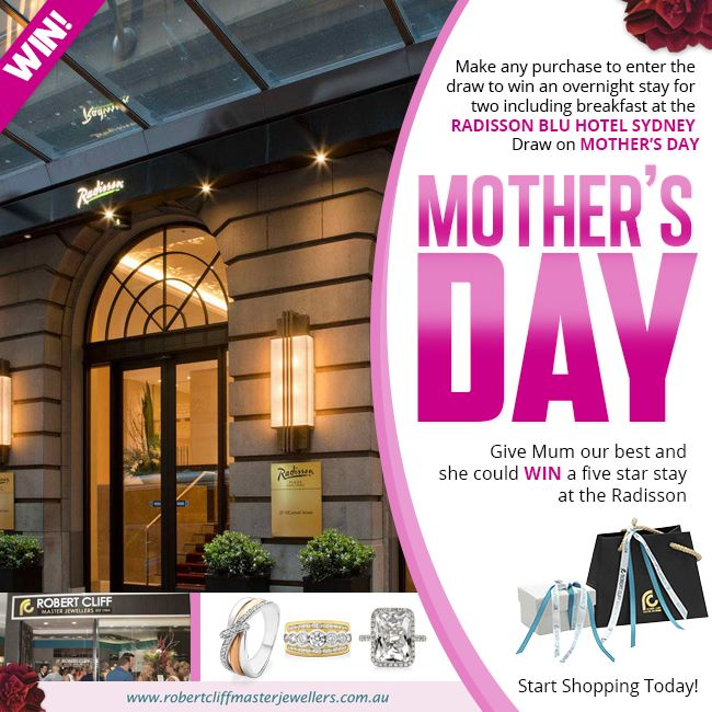 Pamper Mum this #MothersDay with a chance to #WIN a luxury stay at the @Radisson Blu Hotel Sydney. #promo #mumsday #mum #prize #luxury #jewellery #shop #win #accessory